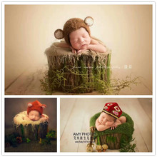 Photo Studio Newborn Photography Props Baby Hundred Days Photo Basket Background Bark Styling Kid Room Decoration Shooting Props