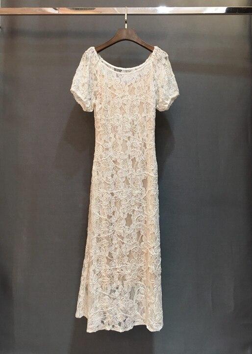 Marteau Broderie Mode Unie De Manches Vêtements Lourd Courtes Robe Nouveau Gamme 226 Haut Femmes 2019 Perles OXnPw80k
