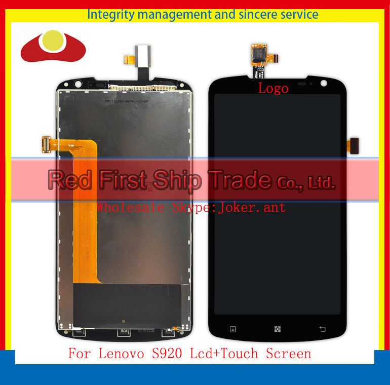 20Pcs/lot DHL EMS Original For Lenovo S920 Lcd Display Assembly Complete + Touch Screen Digitizer 5.3 inch Black Free Shipping dhl ems for original touch screen 6av6 643 0aa01 1ax0 6av6643 0aa01 1ax0 new