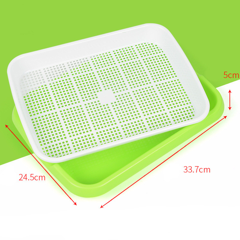 Image 5 - Hydroponics Seed Germination Tray Seedling Tray Sprout Plate Grow Nursery Pots Tray Vegetable Seedling Pot Plastic Nursery Tray-in Nursery Pots from Home & Garden