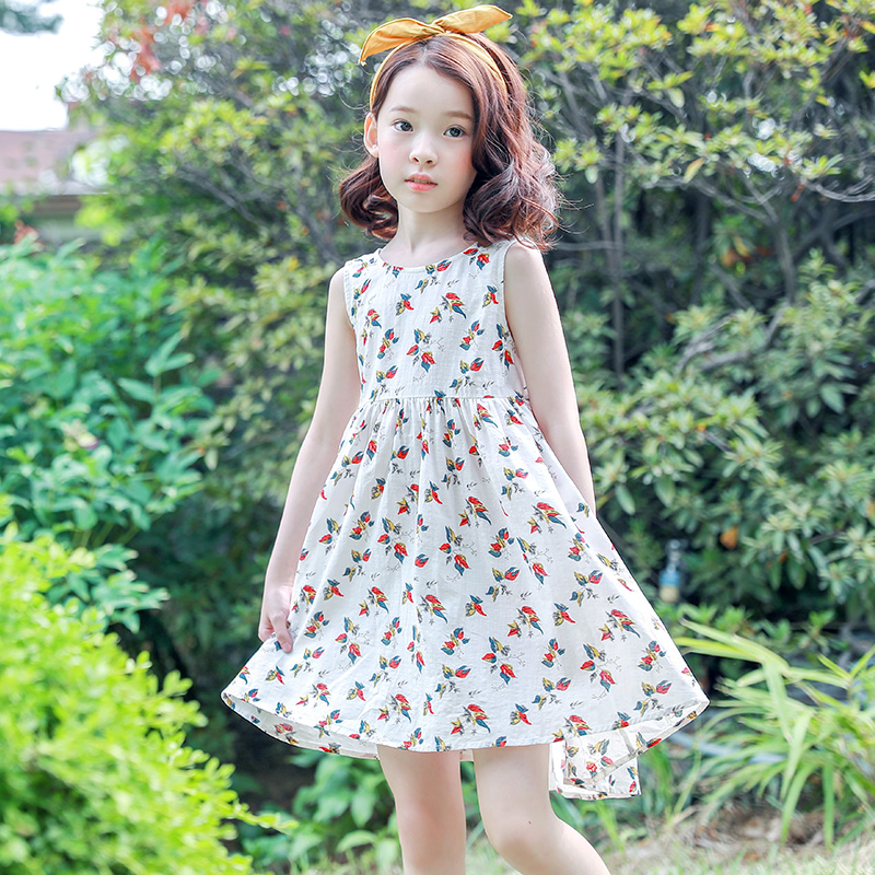 Girls Dress Summer Beach Bohemian Kid Dresses For Girls Clothes Children Clothing Sundress Child Costume Floral Backless Dress new summer style girls dresses fashion knee length beach dresses for girls sleeveless bohemian children sundress girls yellow 3t
