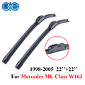 Oge par par windshield windscreen wiper blades para mercedes ml class w163 limpadores de auto acessórios do carro de borracha de silicone