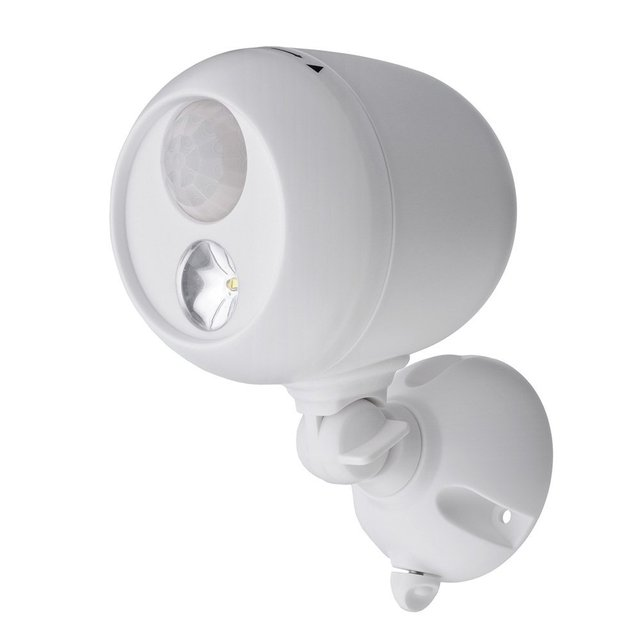 New Wireless Led Spotlight With Motion Sensor And Photocell Ip66 Weatherproof Battery Operated 250 Lumens