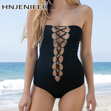 sexy cheap hot vintagesolid black deep v metal ring patchwork backless one piece wire free hot women swimwear beachsuit newest