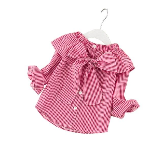 2018 primavera meninas blusas crianças do sexo feminino roupas da moda de  todos os jogos casuais 167d3e34c3575