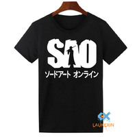 Anime Sword Art Online Sao Cosplay Unisex Casual Cotton T Shirt For Men Women Harajuku Tee