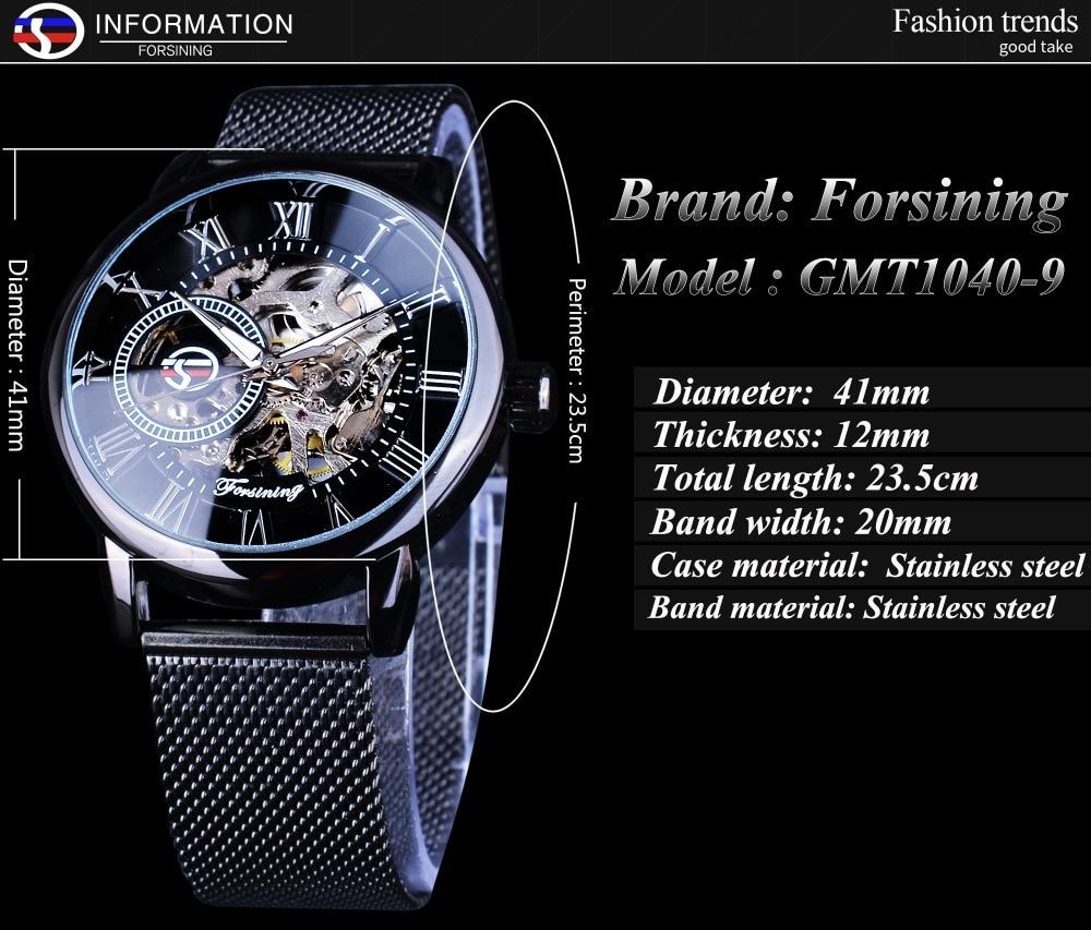 HTB1WCHCiHGYBuNjy0Foq6AiBFXao Forsining Retro Fashion Design Skeleton Sport Mechanical Watch Luminous Hands Transparent Mesh Bracelet For Men Top Brand Luxury