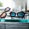 2017 Polígono Moda Grandes gafas de Marco gafas de Sol Mujer Hombre Vintage Retro Dom vidrio Femenino Diseñador de la Marca Gafas Gafas de Sol UV400