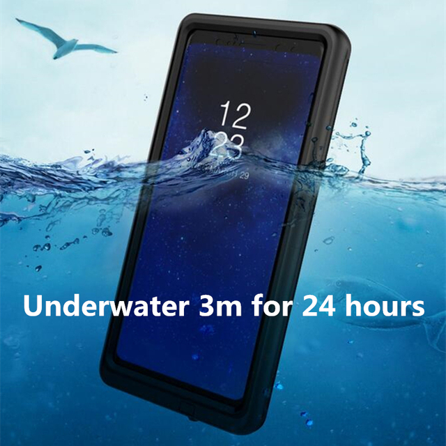 new arrival 6db86 ba173 US $10.69 40% OFF|HOTR Note 8 Waterproof Case Underwater for Samsung Galaxy  Note 8 s8/S8 Plus/s9/S9 Plus Waterproof Case Cover Swimming Full Case-in ...