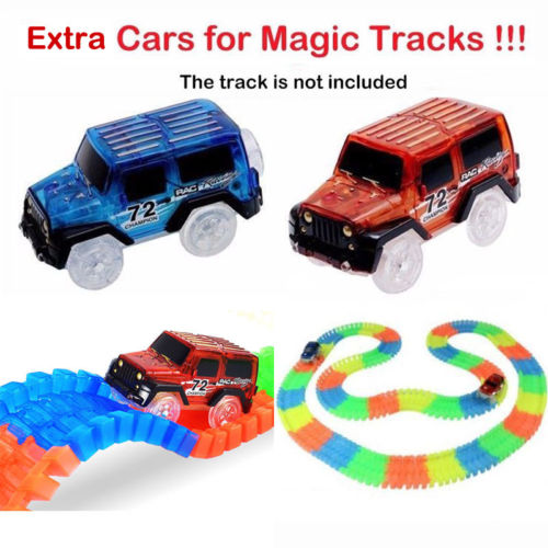 Detail Feedback Questions About Replacement Toy Race Car For Magic Tracks Amazing Racetrack Neon Glow Light Up Electric Luminous Gift On