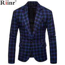 Riinr 2018 New Arrival Brand Clothing Jacket Autumn Suit Jacket Men Blazer Fashion Slim Male Suits Casual Blazers Men