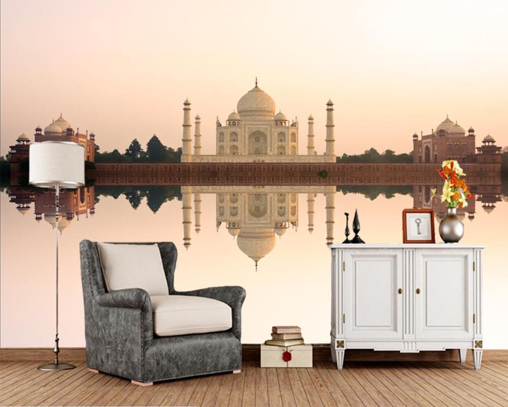 US $28 0 |Taj Mahal India Evening Mosque city 3d wallpaper mural Papel de  parede for living room TV sofa wall bedroom restaurant cafe-in Wallpapers
