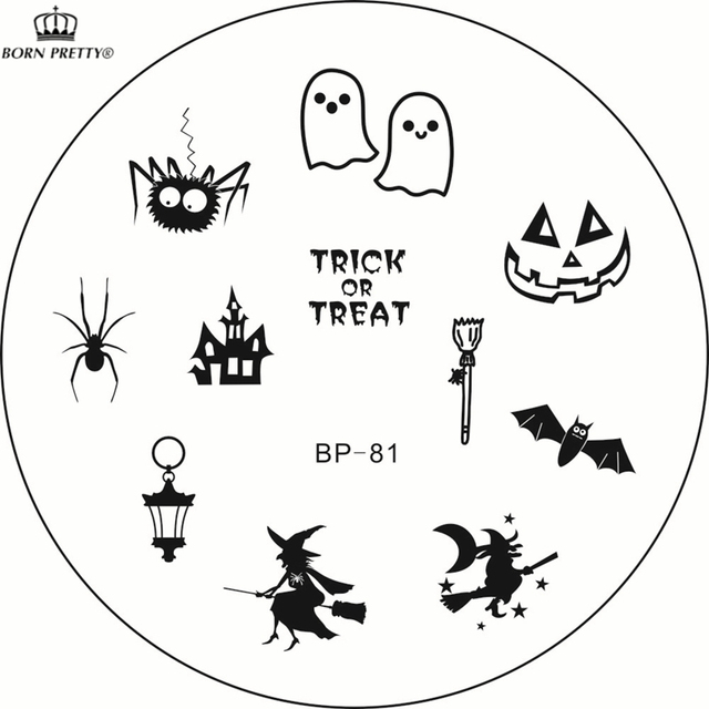 Aliexpress.Com : Buy New Nail Stamping Plates Bp 81 Halloween Nail
