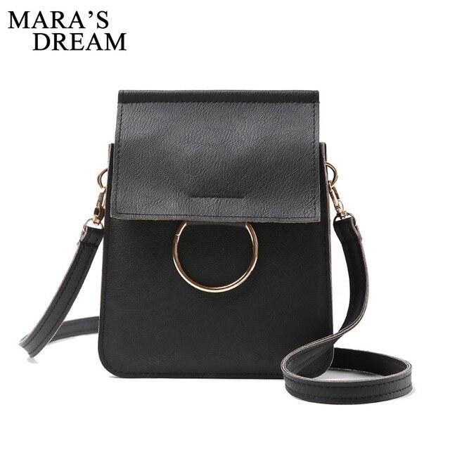 33b6678a0a ... Maras Dream Women Retro Fashion Messenger Bag Ladies Girls Pu leather  Shoulder Bag Female Elegant Simple ...