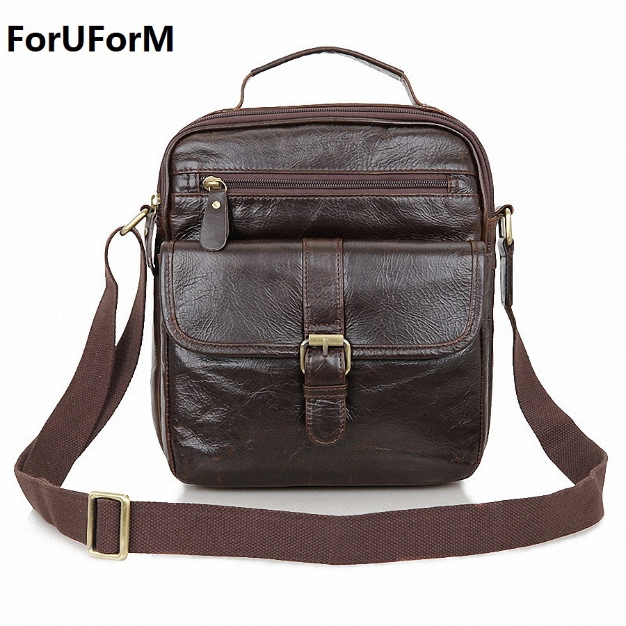 Business Genuine Leather Men messenger Bags High Quality Fashion Men's Shoulder Bag Casual Vintage Briefcase Laptop Bag LI-1543 safebet brand crocodile pattern fashion men shoulder bags high quality pu leather casual messenger bag business men s travel bag