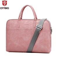 DTBG PU Leather Laptop Handbag 14 15 6 Inch For Men Women Briefcase Notebook Totes For