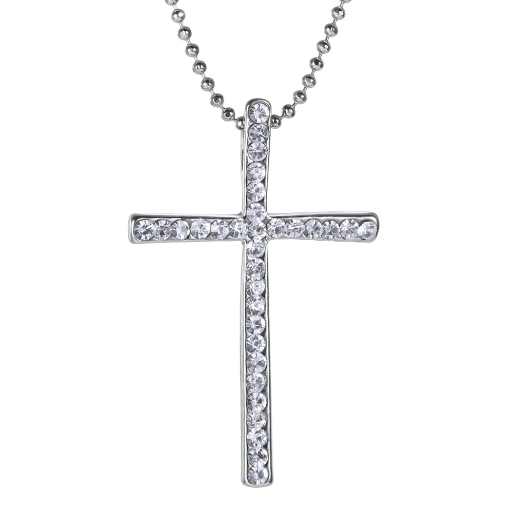 Wholesale Silver Plated Cross Pendant Necklace Jewelry ...