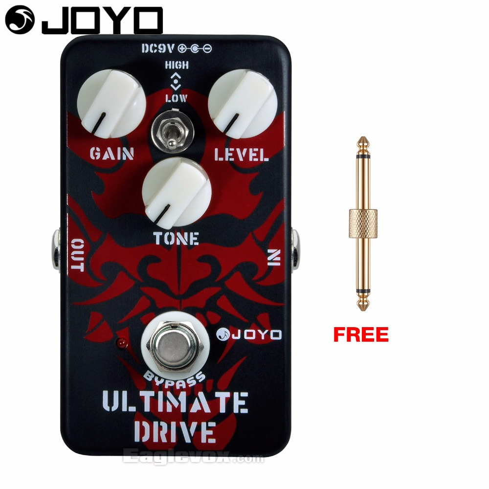 Joyo Ultimate Drive Electric Guitar Effect Pedal True Bypass JF-02 with Free Connector joyo jf 317 space verb digital reverb mini electric guitar effect pedal with knob guard true bypass
