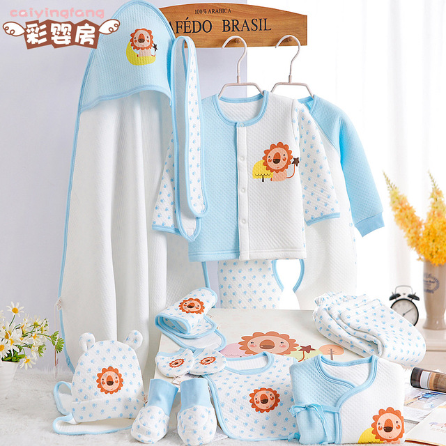 Free Shipping Soft Baby Clothes Set 100 Cotton Newborn Gift Box