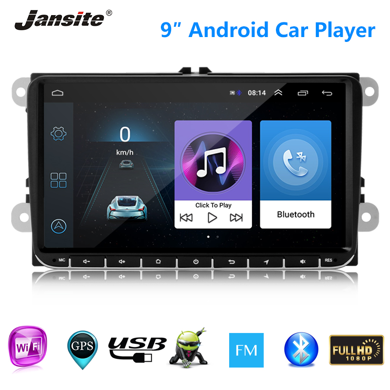 "Jansite 9"" car radio  vehicle audio Android player for Volkswagen Polo Golf wagon Passat estate Amarok Caddy GPS Bluetooth FM"