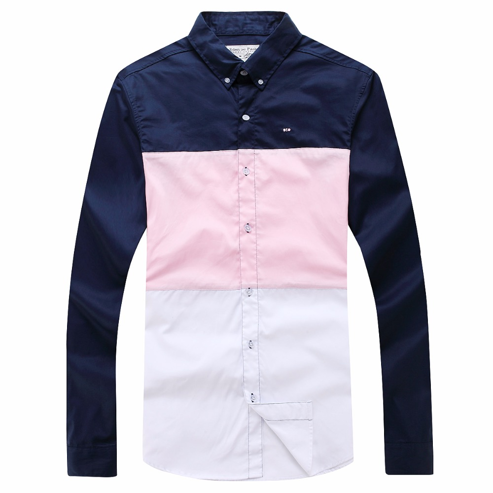 Bright Best Selling Nice Quality Classica Eden&park Summer And Spring Long Sleeve Shirt For Men Big Size M L Xl Xxl Free Shipping Special Buy