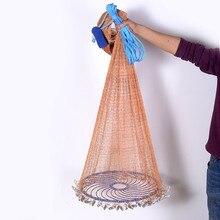 XCLOHAS Verbesserte Fliegen Disc Amerikanische Hand Cast Fischernetz mit Blei Platinen 300 360 420 480 540 600 720cm werfen Net