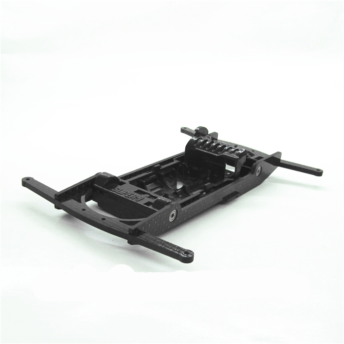 1Set Carbon Fiber Car Frame Shelter Protective Stand Carcase for Tamiya 4WD Racing Car Model Double