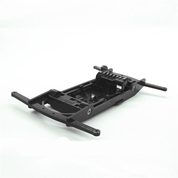 1 Set cadre de voiture en Fiber de carbone abri support de protection carcasse pour Tamiya 4WD voiture de course modèle Double percé huit trous châssis