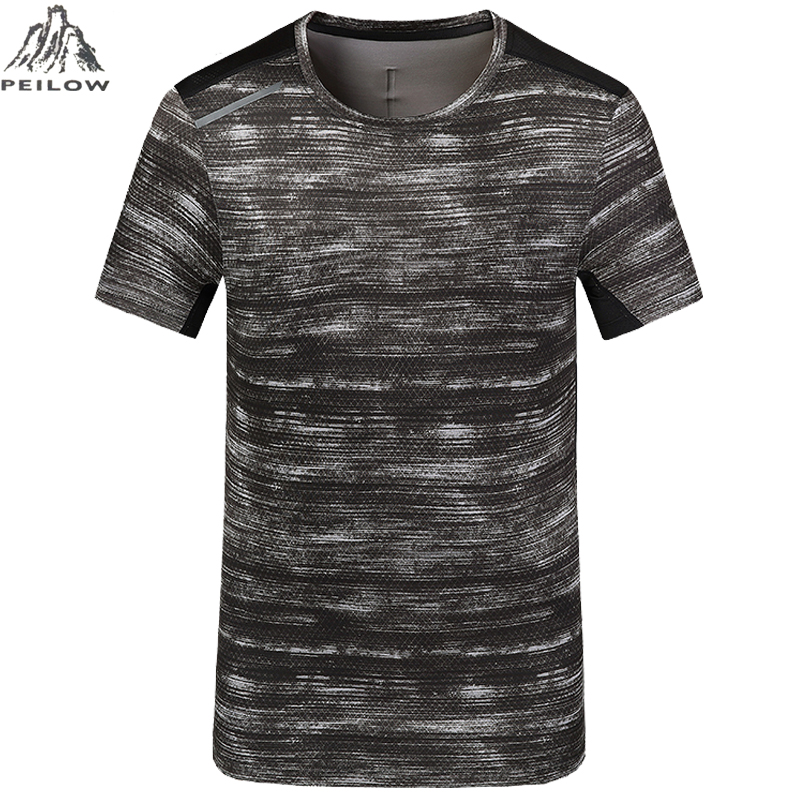 fae70cf35a41 PEILOW big size L~5XL,6XL,7XL,8XL Brand Short sleeve t shirts Quick Dry  Slim Fit Men Women Camouflage Military T-shirt Men Shirt