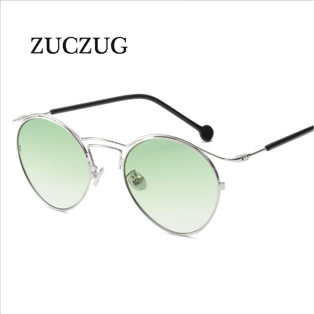 5ccc827e9a2ec1 ZUCZUG D été Femmes lunettes de Soleil Ovale Mode Femelle Hommes Rétro Punk  lunettes de