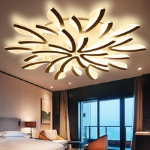 Large Modern LED Ceiling Lights Living room Bedroom Kitchen Lamps White&Black Body Acrylic Led Surface Lamp Luminaires