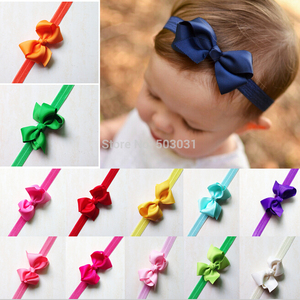 TWDVS Kids Girls Kids Bows Hair Elastic Band Newborn Small Bowknot Hair Accessories Ring Headband W065