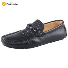 2017 Men's Casual Genuine Handmade Penny Loafers Breathable Driver Slip-on Boat Shoes Fashion Moccasins Men Velvet Loafers