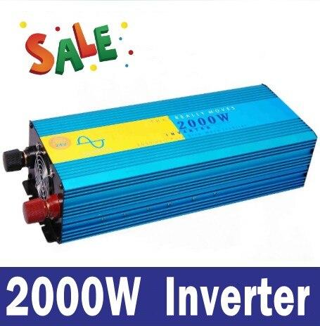 цена на 2000 Watt suiwer sinusgolf omsetter Pure sine wave inverter 2000W onduleur 12/24VDC