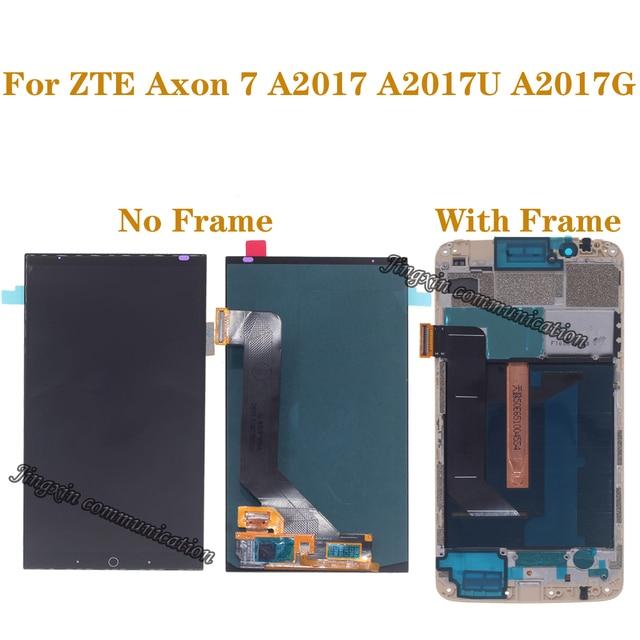 100% ZTE Axon 7 A2017 A2017U A2017G LCD 디스플레이 + 터치 스크린 디지타이저 교체 가능 스크린 용 기존 AMOLED 스크린 테스트