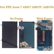 100% テストオリジナル amoled スクリーン zte axon 7 A2017 A2017U A2017G lcd ディスプレイ + タッチスクリーンデジタイザ交換可能な画面