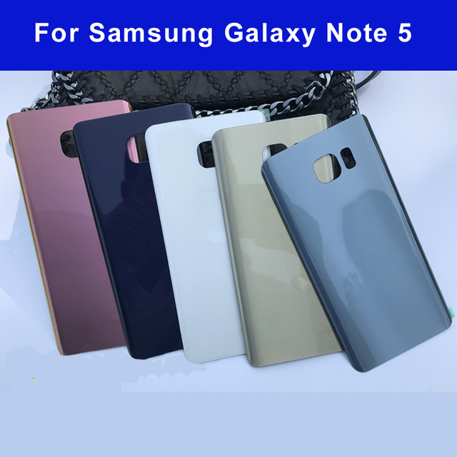 10pcs Original Rear Battery Housing Door cover replacement For Samsung Galaxy Note 5 note5 N920 Back Glass Single & Dual Logo