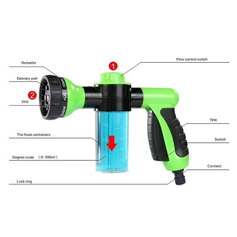 Automobiles & Motorcycles Multifunction Portable Auto Car Foam Water Gun High Pressure Car Washer Water Flow Control Cleaning Washing Gun Tools