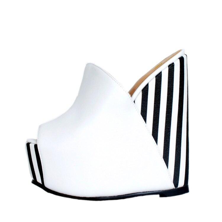 4 Us Ef1313 Mode Élégant Taille La Sexy Rayé D'orteil Ouvert Cales L'intention Filles 15 White Femmes Dames Chaussures black Initiale Plus Sandales Femme Super zVpqSGLMU