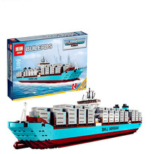 Lepin 22002 Technic Series The Maersk Cargo Container Ship Set Educational Building Blocks Bricks 1518Pcs Model Toys Gift