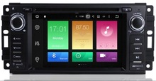 цена на 7 inch Android 9.0 Car DVD Player GPS Navigation for Jeep Compass Grand Cherokee Wrangler with Radio BT USB SD AUX Video Stereo