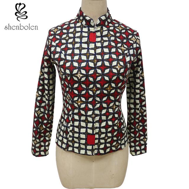 Nuevo 2016 estilo de otoño moda mujer chaquetas batik africano uno a grano de la cremallera de manga larga delgada elegante de las mujeres a medida