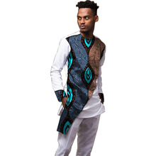 African men patchwork shirts+trousers print man Ankara outfits shirt with pant 2 pieces set clothing Customized