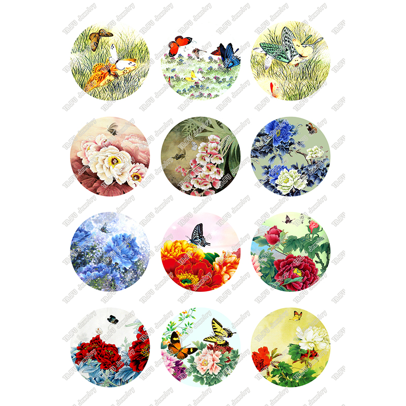 Round Glass Cabochons 4 pcs 10mm,12mm,14mm,16mm,18mm,20mm,25mm jewelry Cabochons finding beads,Photo Glass Cabochons,animal cabochons-1