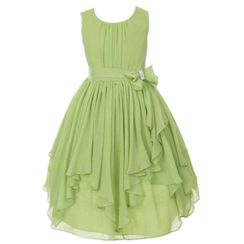 Children clothes for girls 3-13 years tulle dress pink navy orange yellow teal flower girl green party dresses for weddings