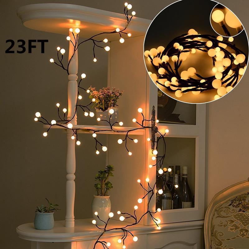 Wedding White Lights: SOLLED 2M LED String Lights Warm White Lights Globe String