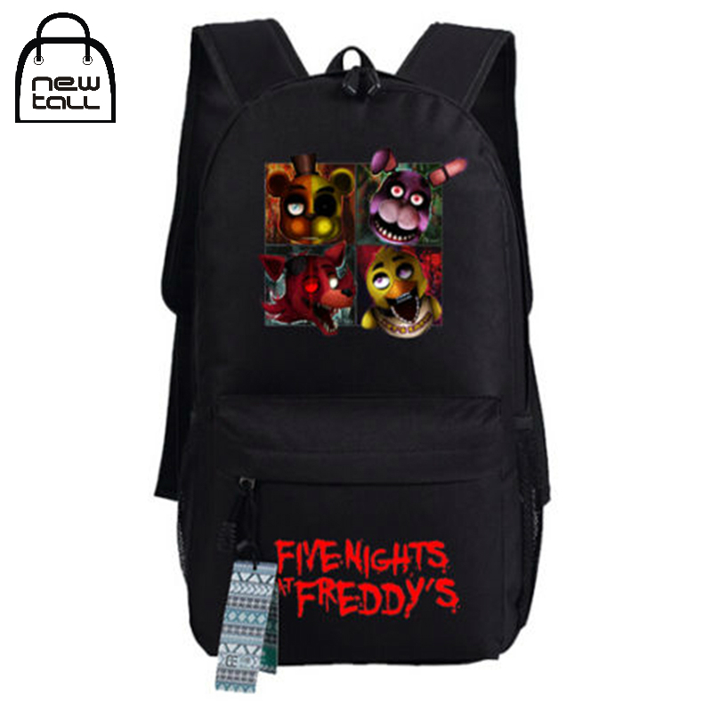 Newtall New Five Nights At Freddy's Freddy Chica Foxy Bonnie FNAF Shoulder Bag Backpack with Pencil Case School Bag Travel Bag сувенирный чехол hipsta animals кот для iphone 6 6s