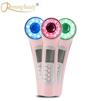 Galvanic Ion Ultrasonic Bio Wave Skin Pores Dirt Makeup Pigment Blemish Cleansing Led Phototherapy Machine Face Beauty Device