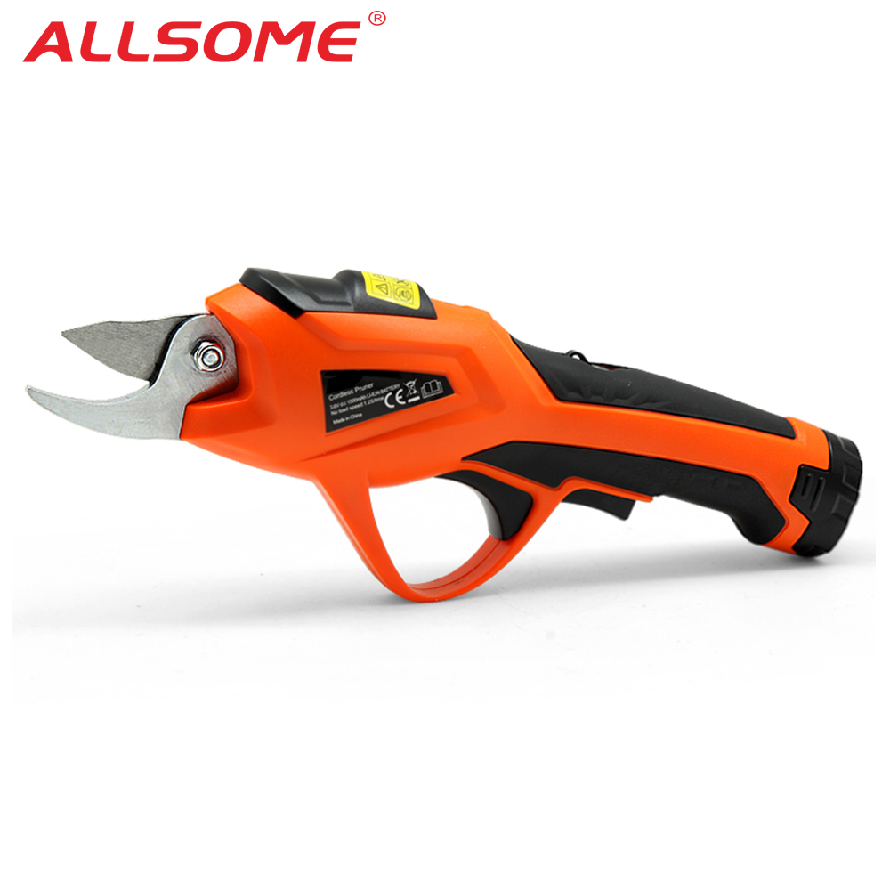 ALLSOME Electric Pruning Scissors 0-10mm Pruning Shears 3.6V Lithium Battery Garden Pruner HT2670