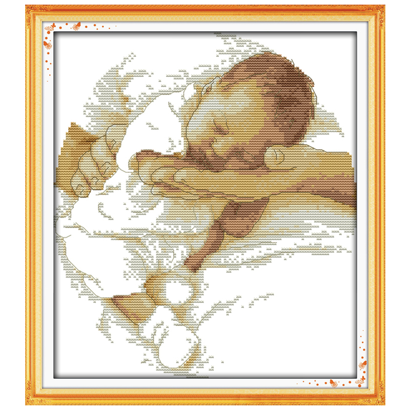 Care Baby Patterns Counted Cross Stitch 11CT Printed 14CT